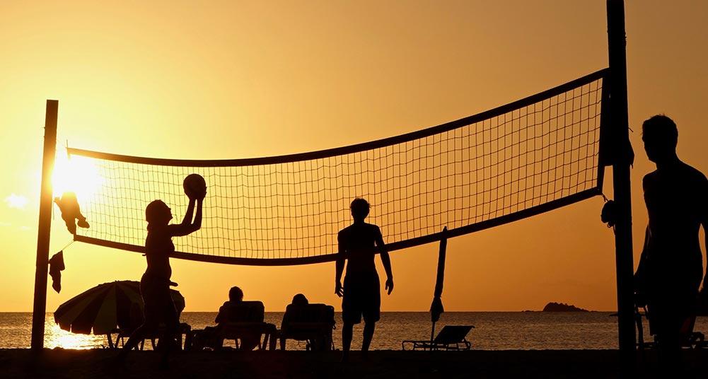 beachvolleyball set